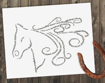 Giddy-Up! - A Limited Edition Print of a Hand-Lettered Image
