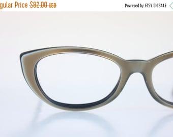 ON SALE Vintage 50's Bronze Cat Eye Eyeglasses Sunglass Frames