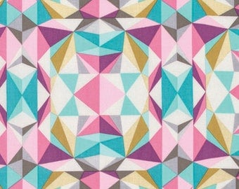 Modernist by Joel Dewberry for Free Spirit - Prismatic - Pink - Fat Quarter - FQ - Cotton Quilt Fabric