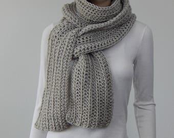 Crochet PATTERN PDF, The Traveling Scarf Crochet Pattern, Wide Long Scarf, Wrap Scarf Crochet Pattern, Beginner Crochet, MarlowsGiftCottage