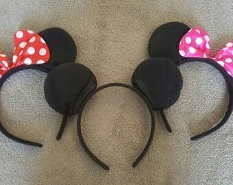 1 Mickey or Minnie headband ears