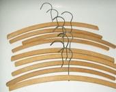Vintage Wooden Hangers Set of 9 Coat Hangers