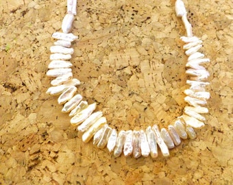 Stick Pearl Necklace%50 off