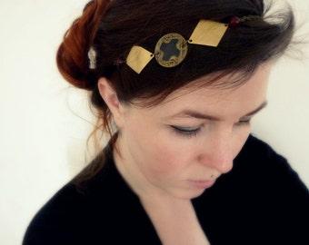 Boho chic vintage retro Art Nouveau headband - Allister