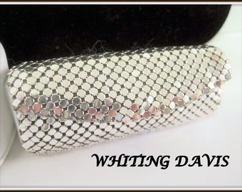 Whiting Davis Silver Mesh Lipstick Case - Signed Inside -  70's Accessory