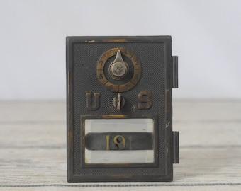 Antique/ Vintage US 191 Postal Box Door Postal Door Early 1900s