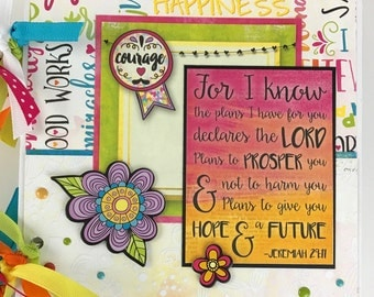 Faith Prayer Journal Scrapbook Mini Album Kit or Premade Bible Study