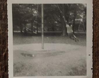 Original Vintage Photograph The Swinger