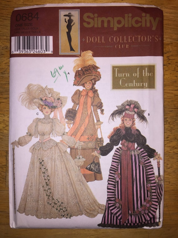 "Simplicity Sewing Pattern 0684 Clothes for 11 1/2"" Fashion Doll"