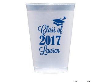 50 Personalized Graduation Plastic Party Cups