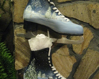 Up-cycled, Hand-painted  Ice Skates