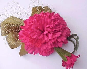Pretty 1950's Old Store Stock Carnation Corsage or Millinery Flower