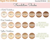 On Sale - Custom Mixed Mineral Wonder Powder Foundation - Vegan Customized All Natural Mineral Makeup