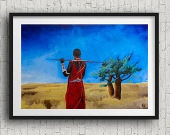 Africa wall art - wildlife safari art prints -  africa prints - africa art prints decor africa wall art