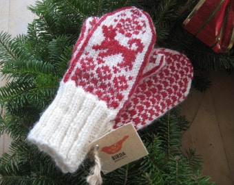 Childs Mittens in Scandinavian Style   ELIN