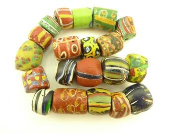 20 pcs mixed big fancy tribal Venetian glass trade beads tribal African AC-0105