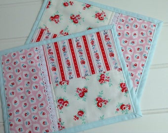 Pair of Playtime Snack Mats Featuring Elea Lutz's 'Milk, Sugar and Flower'