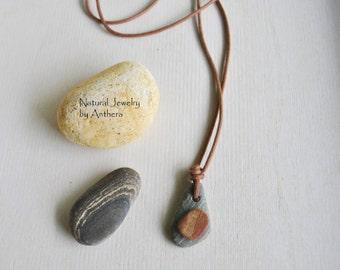 Natural Jewelry - River Stone - Unique Necklace - Organic - Zen - Eco Friendly
