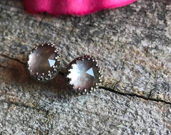 Crystal Quartz Earring Studs