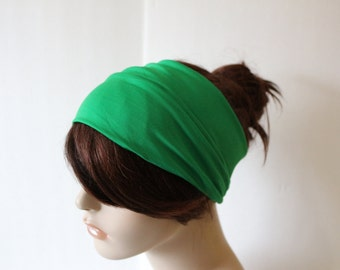 Kelly Green Spring Green Turban Head Wrap, Workout Headband, Women's Yoga Headband, Turband Womens Gift for Her Hair Accessories