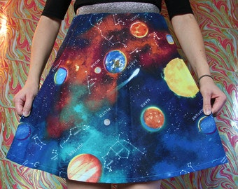 Constellations Skater Skirt (Size XS)