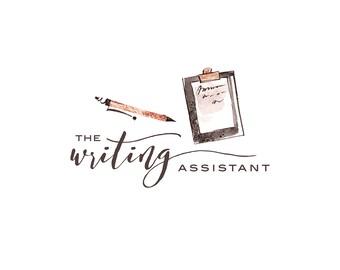 Premade Logo Design, Copywriter Logo, Editor Logo, Writing Assistant Logo, Writer Logo, Planner Shop Logo  391