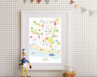 Map of Brighton Art Print