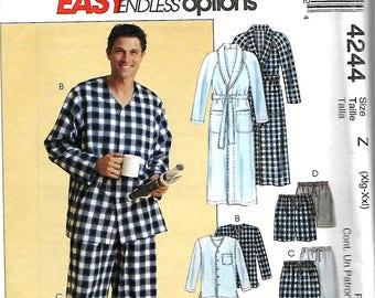 McCall's 4244 Men's Pajamas And Robe Pattern, XL-XXL, UNCUT