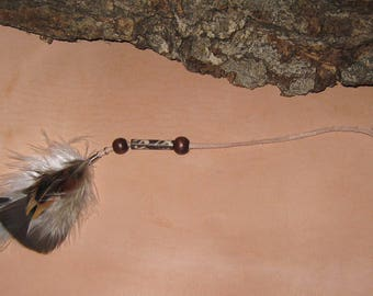 Natural Feather Hair Clips / Feather Hair Accessories /Black/Brown/Beaded
