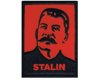 "Famous Dictator ""Stalin"" Iron-On Patch Russian WW2 Soviet Leader Craft Applique"