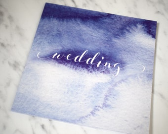 Watercolour Wedding Invitation, folded wedding invitation, Wedding Invite