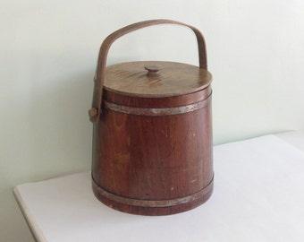 Vintage Wood Bucket Pail