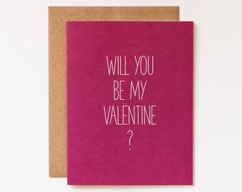 Bold Valentine Card, Valentine Card Her, Valentine Card Him, Girlfriend Valentine, Boyfriend Valentine, Be My Valentine, Valentine Gift