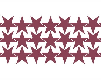 Star-shaped vinyl stickers - 1.25in - many colours available