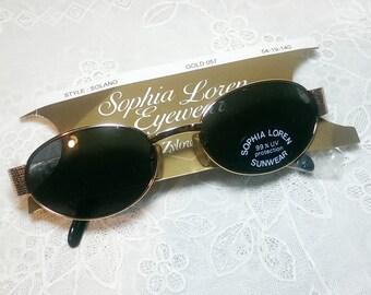 Vintage 80's Sophia Loren by Zyloware Deadstock Ladies Sunglasses
