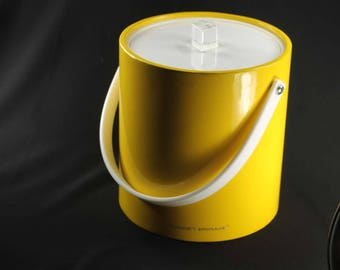 Vintage Yellow Ice Bucket Morgan Designs Bucket Brigade
