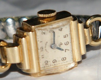 Vintage Lord Elgin Ladies 10k Gold filled Cocktail Watch