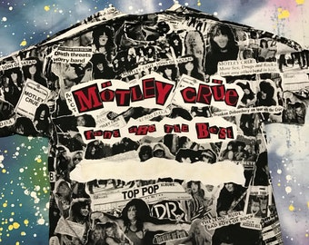 1990s MOTLEY CRUE Metal T-Shirt Size Xl 90s