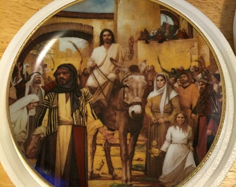 Danbury Mint Collectible Plate - The Entry Into Jerusalem