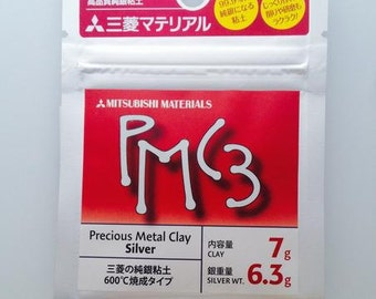 PMC3 - Fine Silver - Precious Metal Clay -Silver Clay PMC Silver Clay - Mitsubishi PMC3