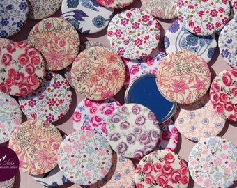 Liberty Fabric Covered Pocket Mirror More Designs