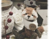 Star, winter, vintage style fox. artist bear.