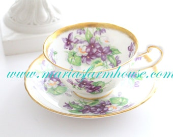 Vintage, English Bone China Tea Cup and Saucer by Royal Chelsea, Replacement China, Gifts for Her