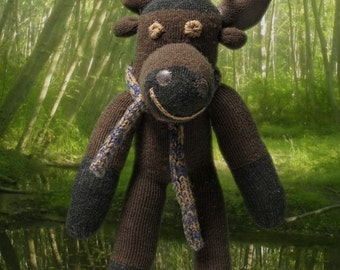 CoCo the Chocolate Moose the unique sock monkey