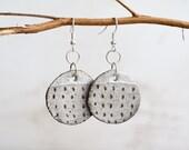 "Ceramic Earrings - Dangle Earrings - Ceramic Jewelry - Ceramic Jewellery - Earrings - ""Imprint"" Mini"