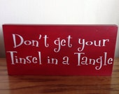 Primitive Tinsel In A Tangle Stencil Sign Rustic Holiday Decor