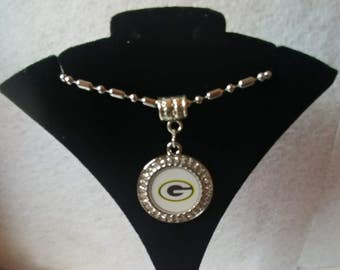 Packers Round Crystal Necklace