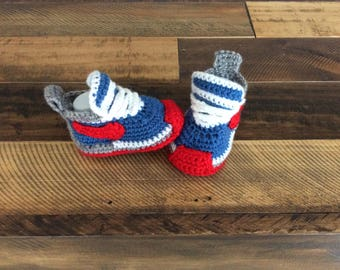 Hand knitted baby  Nike booties,Pink knitted shoes,Basketball Shoes,Baby Photo prop,Newborn Photo Prop,Crochet baby shoes,