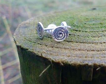 Spiral sterling studs earrings