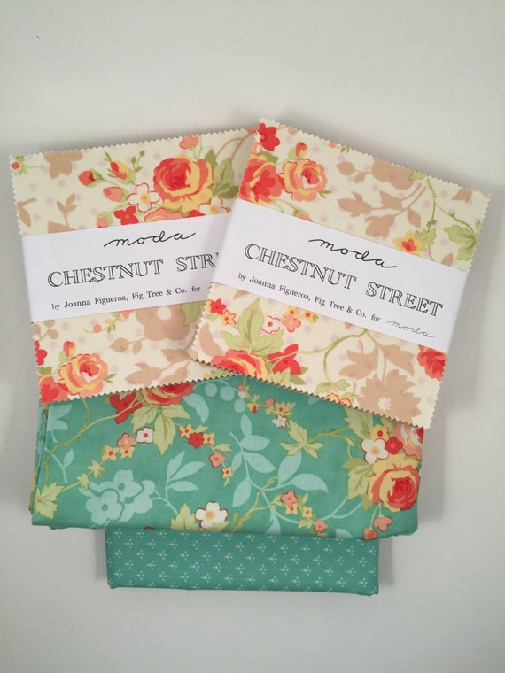Sweet & Simple Pinwheel Quilt Kit with Chestnut Street Fabric